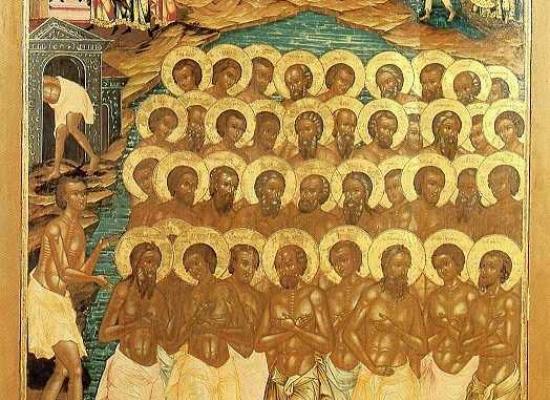 В храмах Владикавказской епархии отметили день памяти Сорока мучеников Севастийских