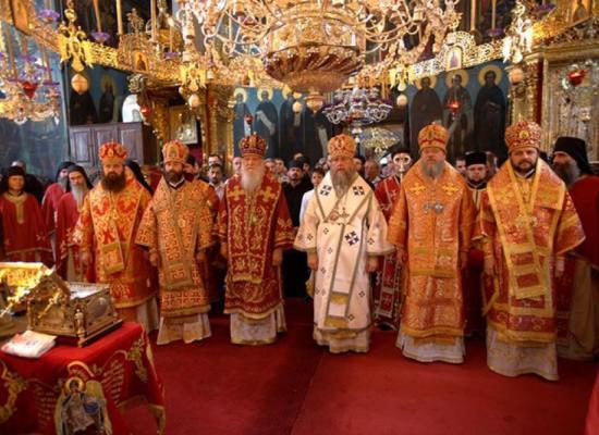 Епископ Леонид принял участие в престольном празднике русского монастыря на Святой горе Афон