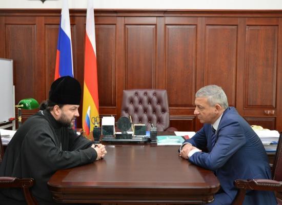 Епископ Леонид встретился с Главой РСО-Алания В. Битаровым
