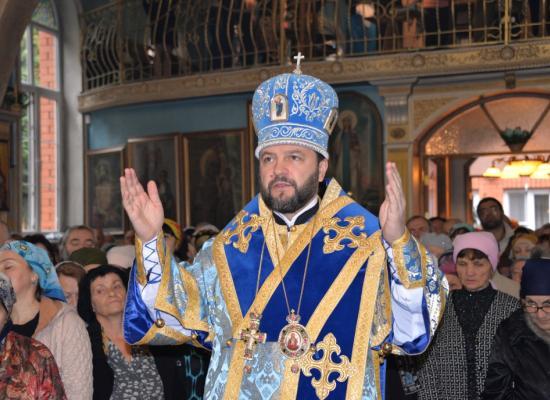 Епископ Леонид возглавил престольный праздник в храме Покрова Пресвятой Богородицы г. Владикавказа