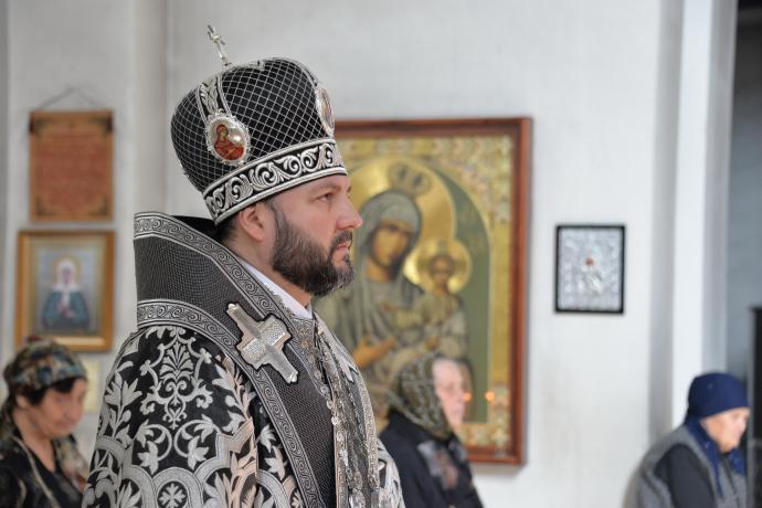 В среду первой седмицы Великого поста епископ Леонид совершил первую для Осетии в нынешнем столетии архиерейскую Литургию Преждеосвященных Даров