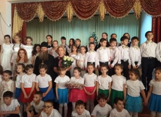 В ардонской школе № 1 праздничным концертом отметили Рождество Христово