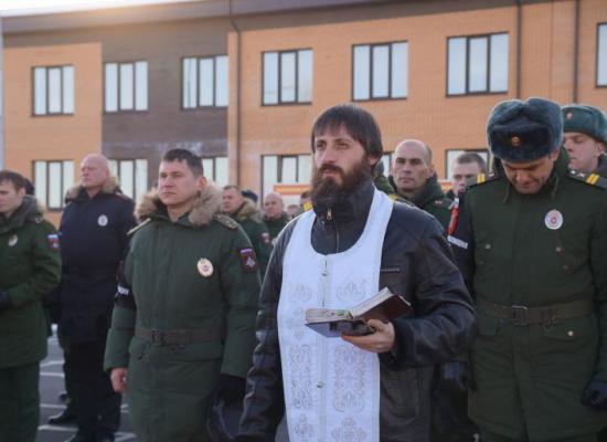 Священник Владикавказской епархии благословил начало учебного периода в центре военной полиции