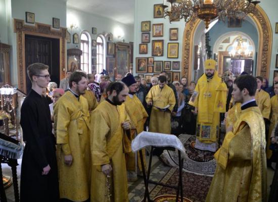 В праздник Обрезания Господня архиепископ Леонид возглавил Божественную литургию в храме пророка Божия Илии г. Владикавказа