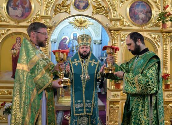 Архиепископ Леонид возглавил малые престольные торжества в Покровской церкви г. Владикавказа