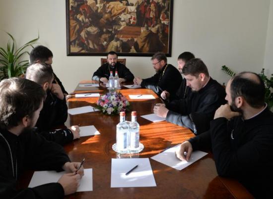 Архиепископ Леонид возглавил собрание духовенства Свято-Георгиевского Кафедрального собора