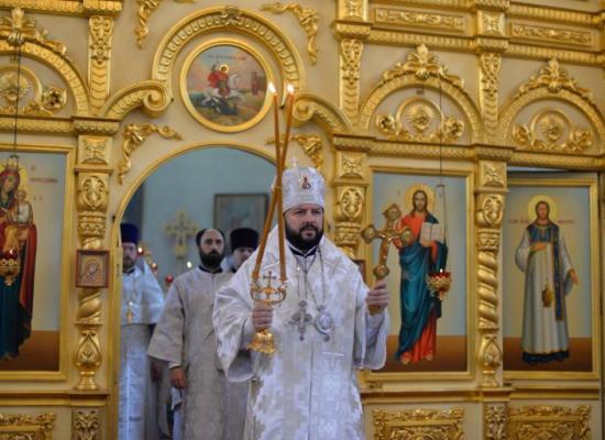 Архиепископ Леонид совершил Божественную литургию в Лазареву субботу