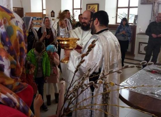 В храме на территории 102-й военной базы в г. Гюмри состоялось праздничное богослужение