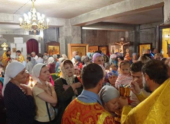 В храме первоверховных апостолов Петра и Павла с.Эльхотово отметили престольный праздник