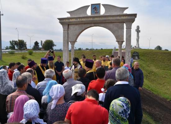 В городе Ардон состоялось освящения комплекса «Поклонный крест»