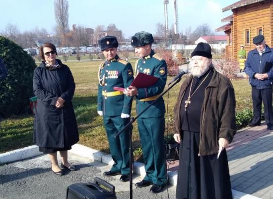 Протоиерей Евгений Стратейчук благословил новобранцев 19-й ОМСБР