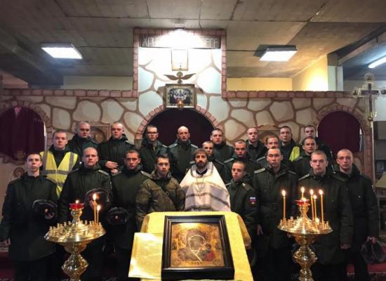 В храме св. Иоанна Воина молились военнослужащие 58-й армии