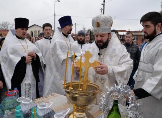 В праздник Крещения Господня архиепископ Леонид совершил литургию и чин великого освящения воды в Кафедральном соборе