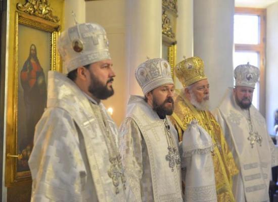 Архиепископ Леонид принял участие в торжествах по случаю годовщины архиерейской хиротонии митрополита Илариона