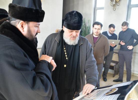 Глава Экспертного совета по церковному искусству, архитектуре и реставрации ознакомился с проектом росписи Владикавказского кафедрального собора