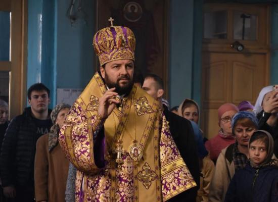 В неделю 4-ю Великого Поста архиепископ Леонид совершил Божественную литургию в Свято-Георгиевском храме г. Ардон