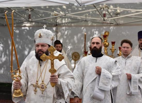 В праздник Вознесения Господня архиепископ Леонид возглавил Божественную литургию в Свято-Георгиевском кафедральном соборе