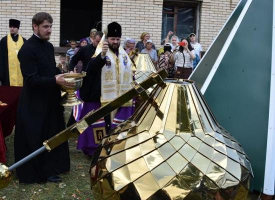 Праздник для села: в Северной Осетии освятили купола храма Архистратига Михаила