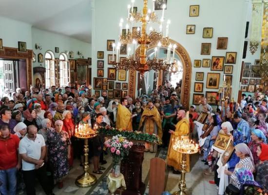 Престольный праздник в храме Ильи Пророка