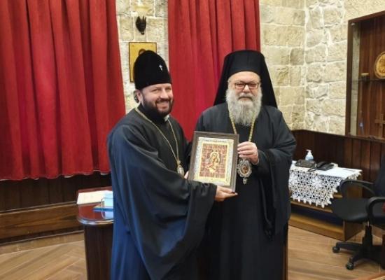 Предстоятель Антиохийской Православной Церкви встретился с заместителем председателя ОВЦС архиепископом Владикавказским и Аланским Леонидом