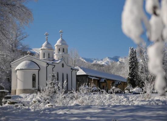 Поздравление настоятельнице и сестрам Аланского Богоявленского монастыря с престольным праздником