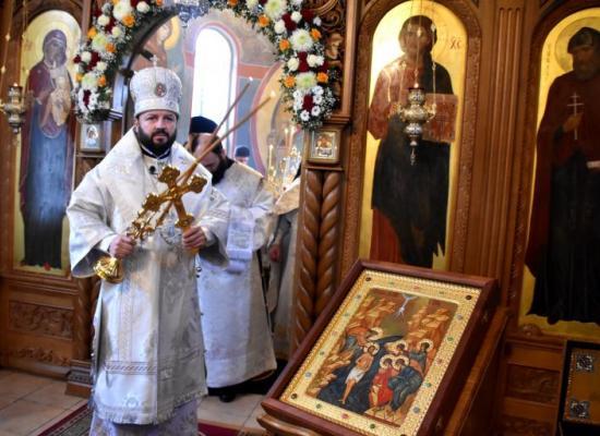 В Крещенский сочельник архиепископ Леонид совершил Божественную литургию в Аланском Богоявленском женском монастыре