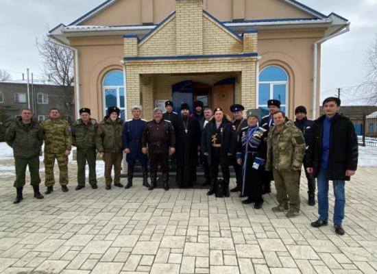 Церемония принятия присяги состоялась в храме станицы Луковской