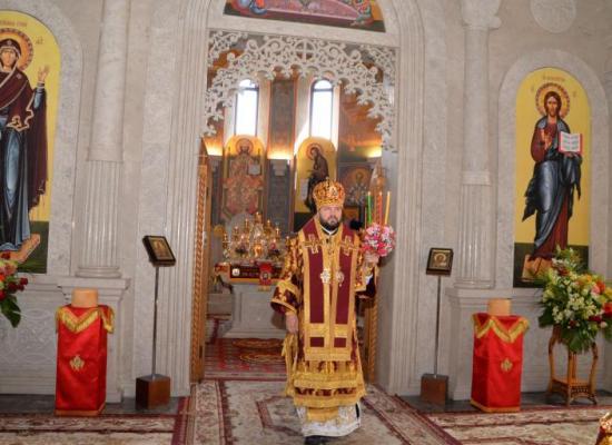 Архиепископ Леонид возглавил престольный праздник главного храма Аланского Успенского мужского монастыря