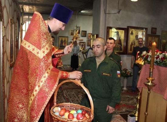 Светлое Христово Воскресение отметили военнослужащие 58 армии