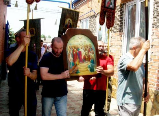 Престольный праздник в храме Святого Духа станицы Змейской