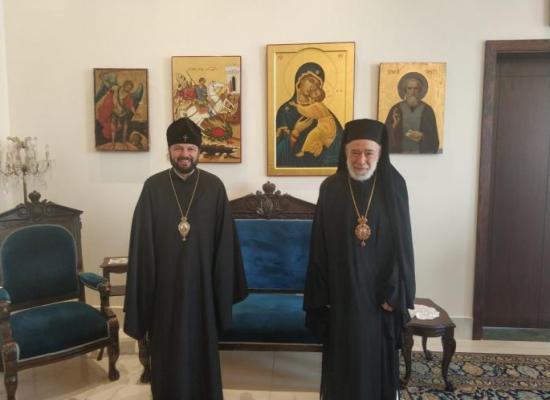 Состоялась встреча архиепископа Владикавказского и Аланского Леонида с митрополитом Бейрутским Илией