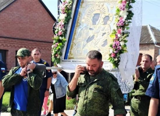 Продолжается Крестный ход с образом Пресвятой Богородицы Моздокской