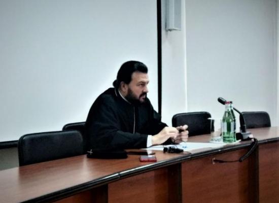 Архиепископ Леонид прочитал лекцию по церковной дипломатии в рамках курсов повышения квалификации священнослужителей