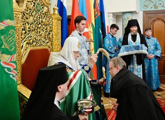 Святейший Патриарх Кирилл возглавил чин нареченияархимандрита Герасима (Шевцова) во епископа Владикавказского и Аланского