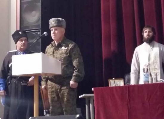 Протоиерей Георгий Хворостьянов благословил нового атамана Аланского казачьего округа