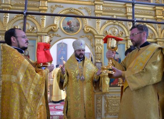 В праздник Воздвижения Креста Господня епископ Леонид возглавил богослужение в Георгиевском кафедральном соборе