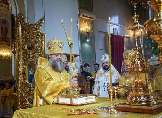 Архиепископ Леонид принял участие в торжествах по случаю 55-летия митрополита Ставропольского и Невинномысского Кирилла
