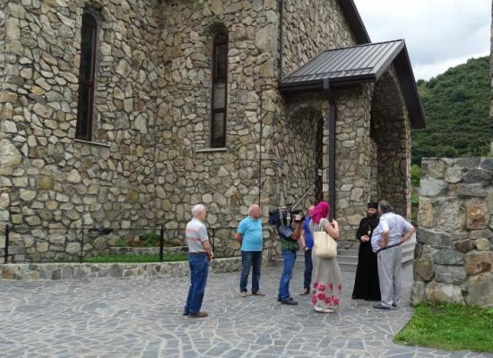 Публицист Александр Проханов посетил Аланский Успенский мужской монастырь