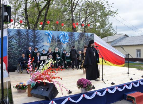 Епископ Леонид поздравил с юбилеем Республиканский дом-интернат для престарелых и инвалидов «Забота»