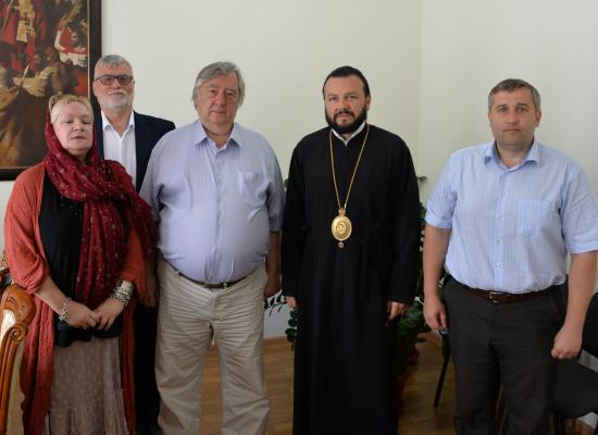 Епископ Леонид встретился с писателем и общественным деятелем Александром Прохановым