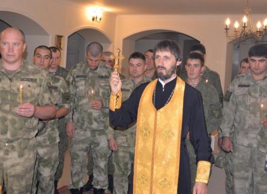 Во Владикавказе совершена лития по сотрудникам войск национальной гвардии, погибшим при исполнении служебного долга
