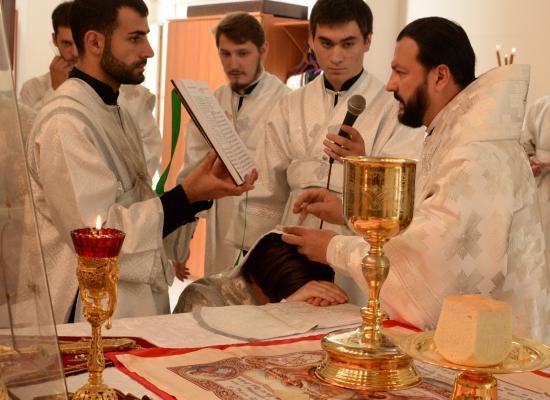 Епископ Леонид совершил Божественную литургию в праздник Преображения Господня