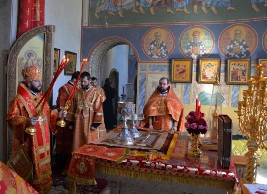 Архиепископ Леонид, священноархимандрит Аланского Успенского мужского монастыря, возглавил престольный праздник обители