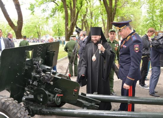 Епископ Леонид принял участие в чествовании ветеранов Великой Отечественной войны в штабе 58-й армии