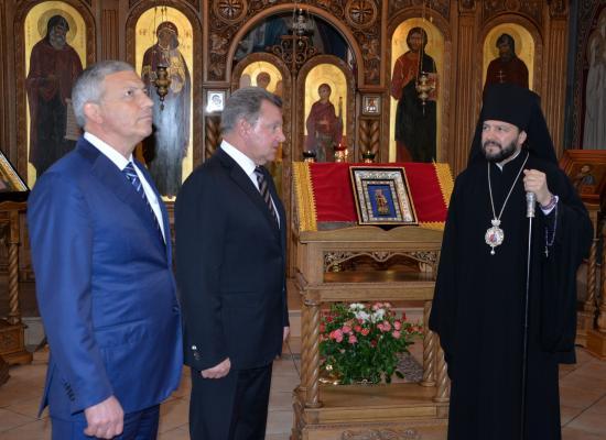 Полномочный представитель Президента РФ в СКФО Олег Белавенцев посетил Аланский Богоявлений женский монастырь