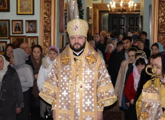 Архиепископ Леонид возглавил Божественную литургию в храме пророка Божия Илии в праздник Обрезания Господня