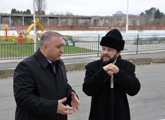 Епископ Леонид провел очередное рабочее совещание по вопросам строительства храма в селе Октябрьском