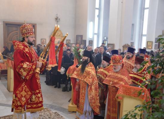 Епископ Леонид возглавил престольный праздник Свято-Георгиевского кафедрального собора