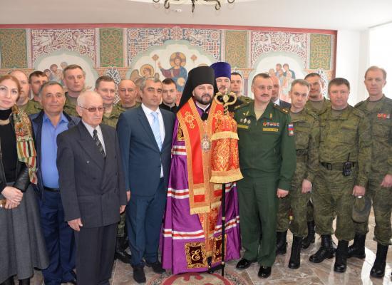 В строящемся Учебном центре военной полиции освятили храм-часовню Николая Чудотворца