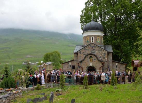 В Горной Санибе отметили праздник Святой Троицы